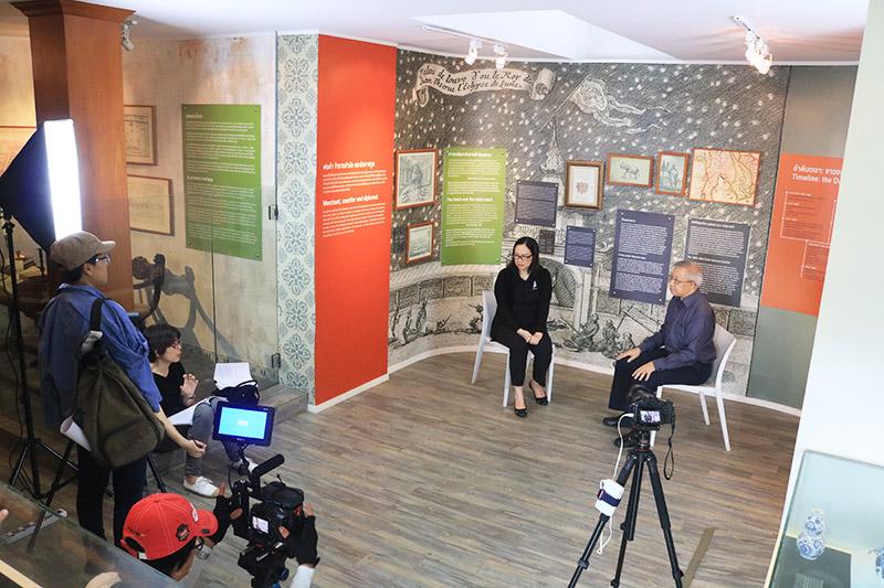 Filming and school visits at Baan Hollanda